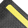 Superior Manufacturing 3' X 5' Black With Yellow Edge Rubber Notrax® Anti-Fatigue Floor Mat With PVC Foam Back
